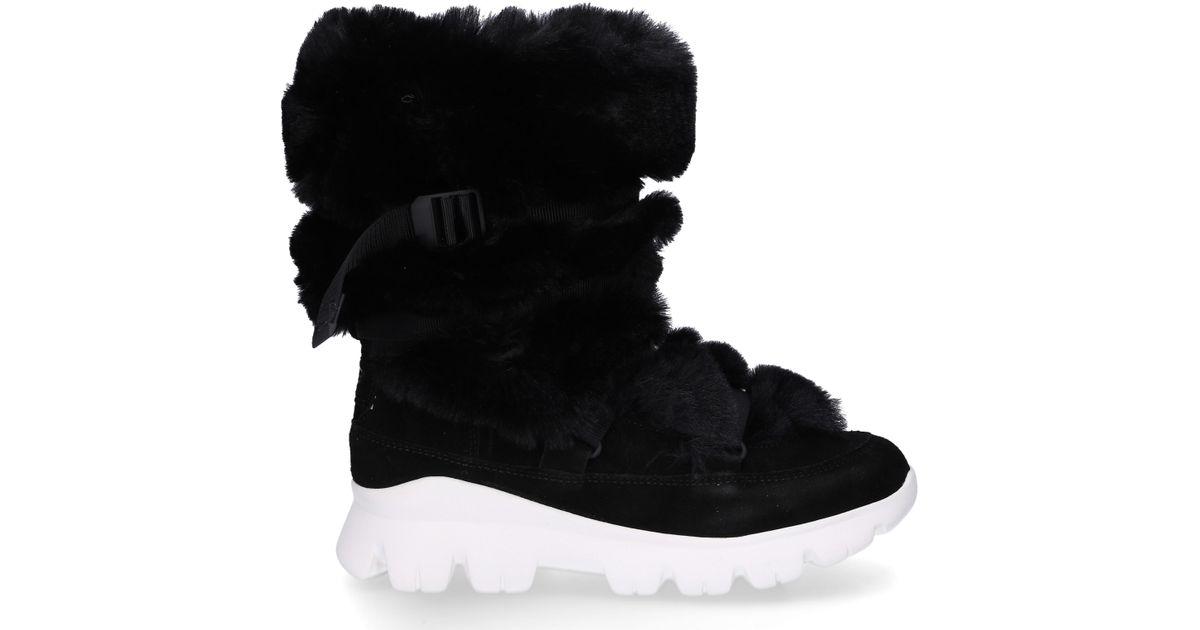 c9c0affe683 Ugg Ankle Boots Misty Boot Rabbit Fur Suede Decorative Lacing Fur Upper  Black