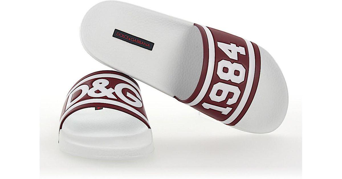 Dolce & Gabbana Sandals SAINT BARTH leather bordeaux logo VDEK8CvoTl