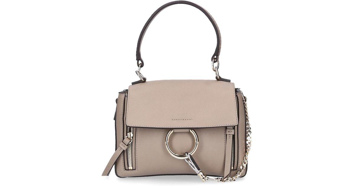Bag Gray Shoulder Grey Chloé Leather Mini Handbag In Day Fay Lyst RqHA6xZ