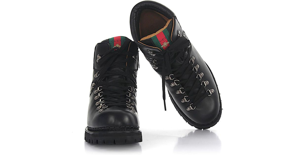 5d74350e94b Gucci Boots D6010 Nappa Leather Black Details Bee for men
