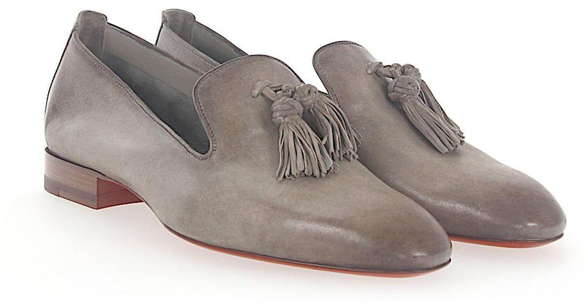 santoni Tassel Loafer 56329 leather finished rF56p2cA