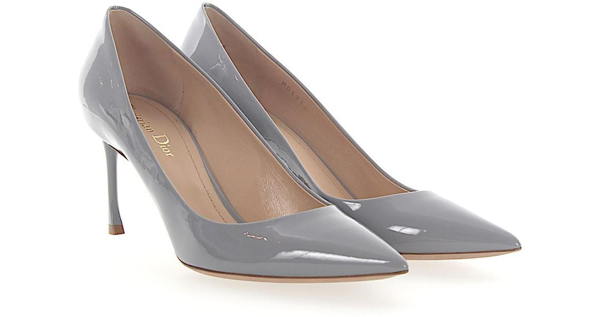2c559c77448 Lyst - Dior Pumps Essence Patent Leather Grey in Gray