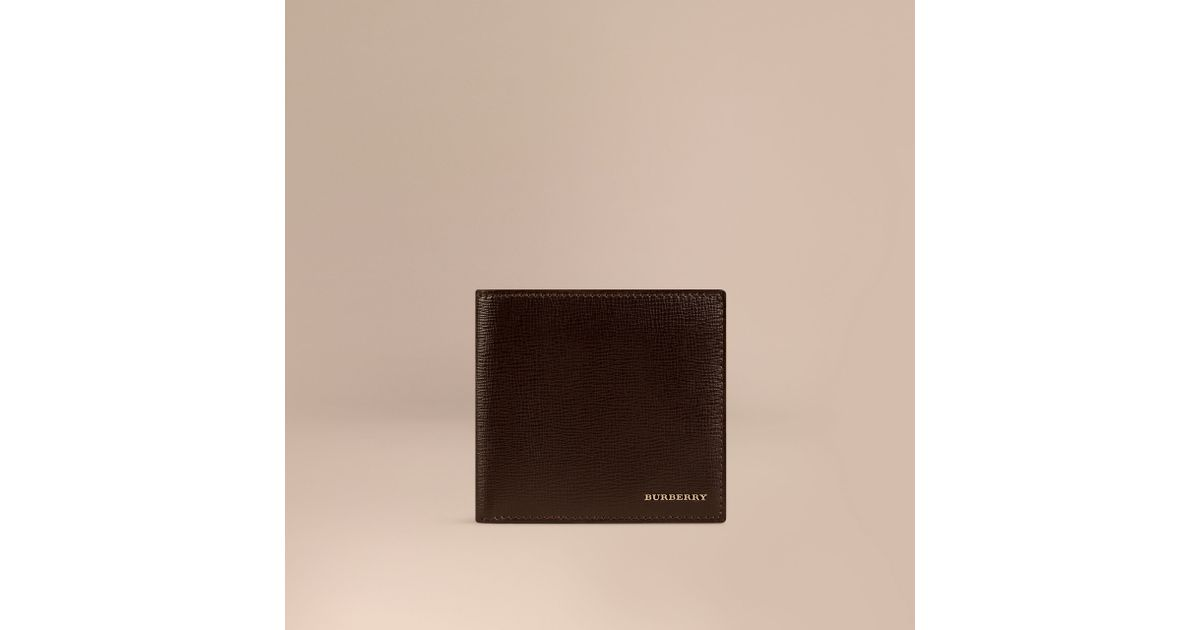 fd36a8e0a558 Lyst - Burberry Bi-Fold London Leather Wallet in Brown for Men