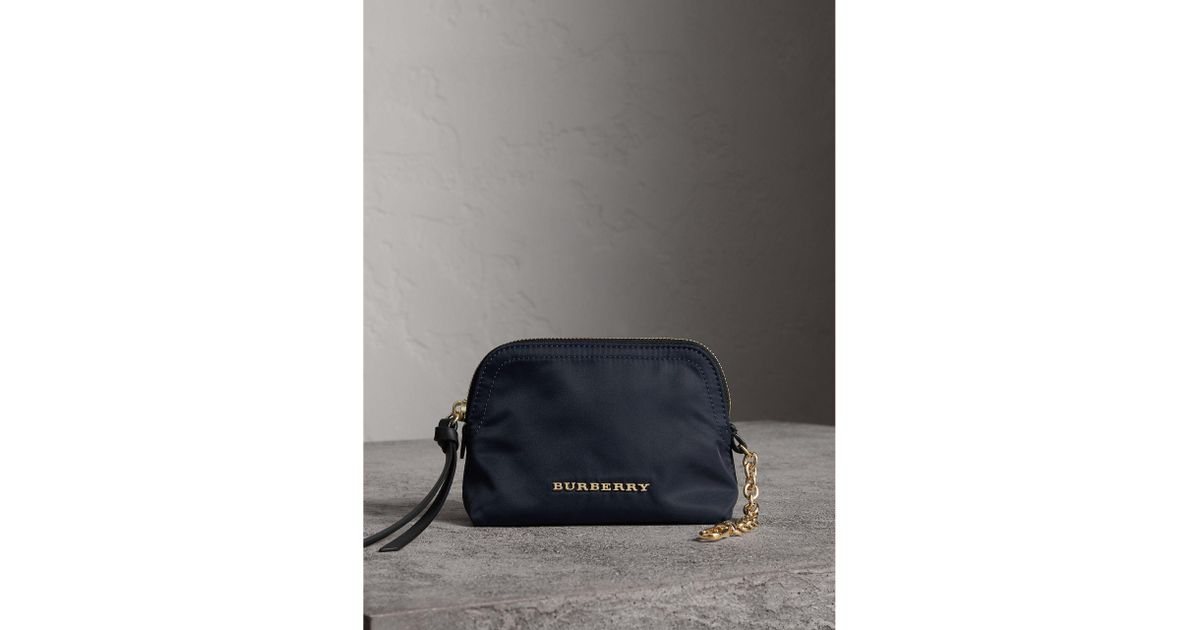 cbb748963a Burberry Small Zip-top Technical Nylon Pouch Ink Blue