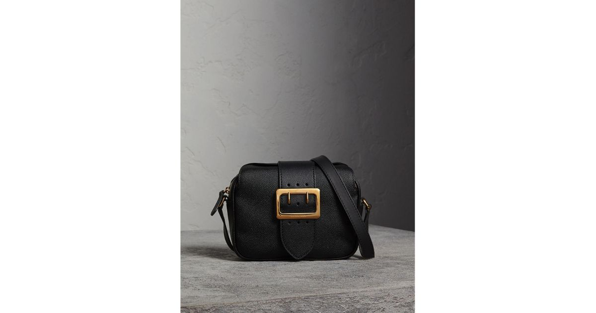 479924cabe5f Lyst - Burberry The Small Buckle Crossbody Bag In Leather in Black