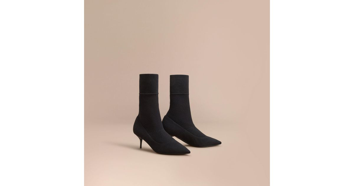 Burberry Leather Round-Toe Mid-Calf Boots latest cheap online sale huge surprise real g43Z07b76X