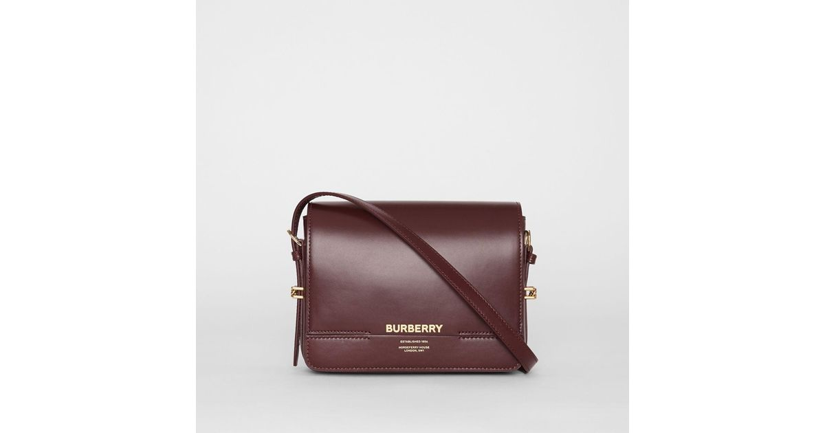 fb76fc8fb6 Lyst - Burberry Small Leather Grace Bag in Purple