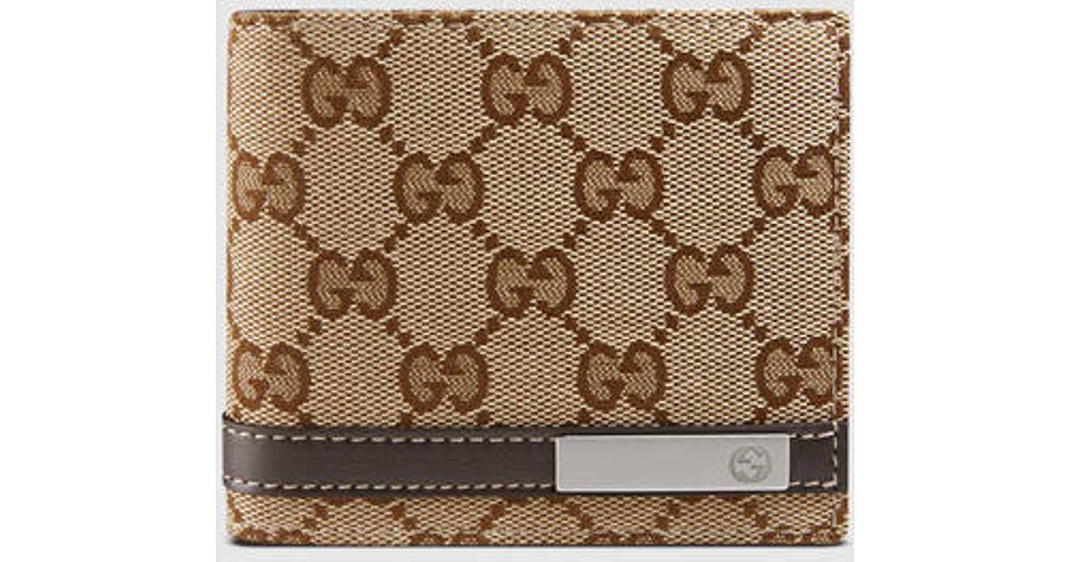 07ee7bf4ba9 Lyst - Gucci Original Gg Bi-fold Wallet in Natural for Men