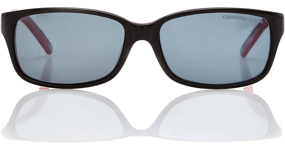 c28a07a7c53 Lyst - Carrera S Black Red Rectangle Polarized Sunglasses in Black for Men