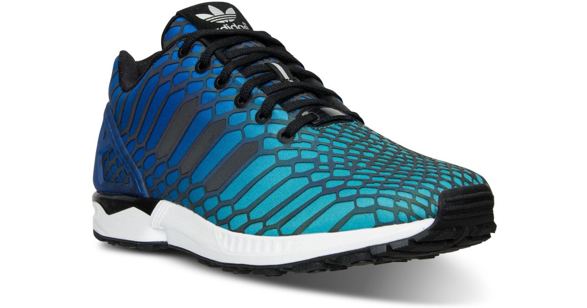 new product 4ca43 fb69b Adidas Green Men's Zx Flux Xeno Casual Sneakers From Finish Line for men
