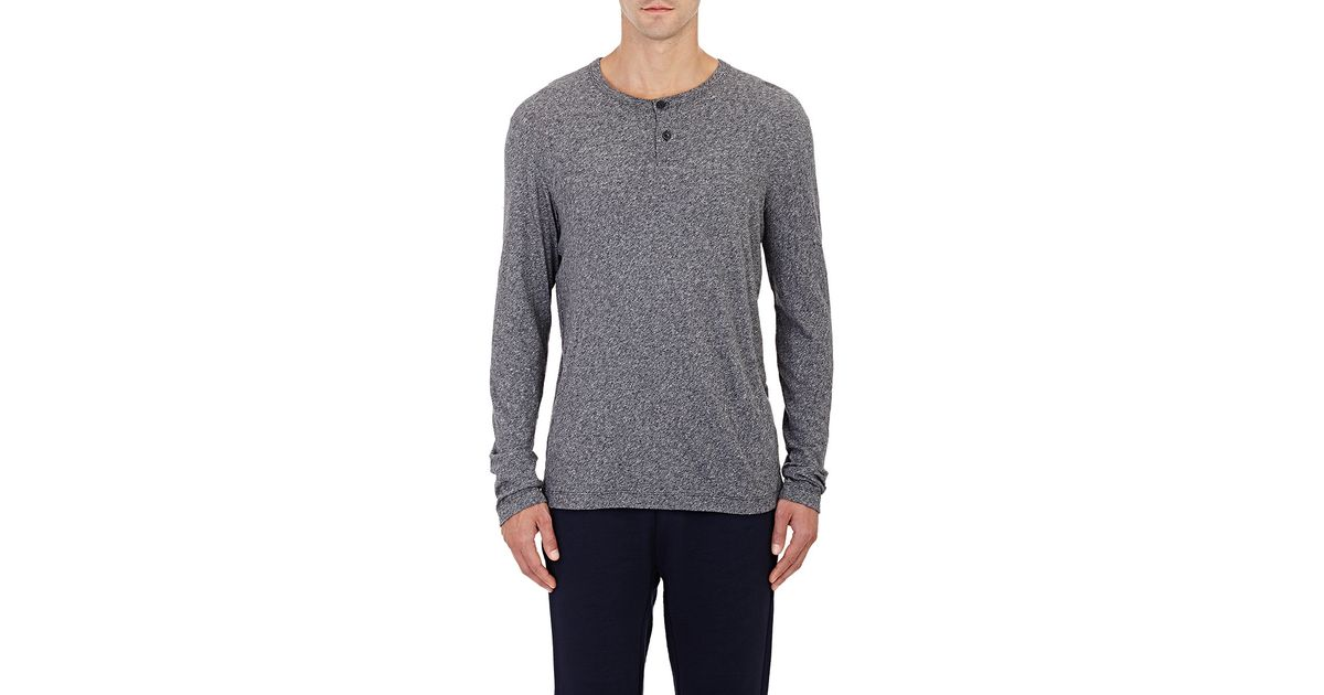 8a6c69f6926 Lyst - Theory Gaskell Henley Shirt in Black for Men