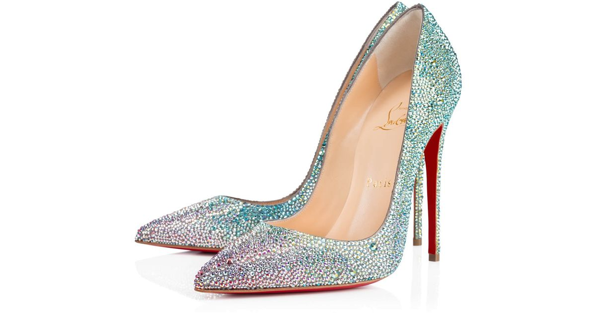 4fa07a53f84 Lyst - Christian Louboutin So Kate Strass Crystal-Embellished Pumps in Blue