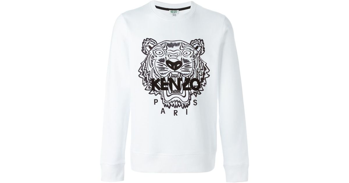 f91a9bd3b KENZO Vitkac Exclusive 'tiger' Sweatshirt in White for Men - Lyst