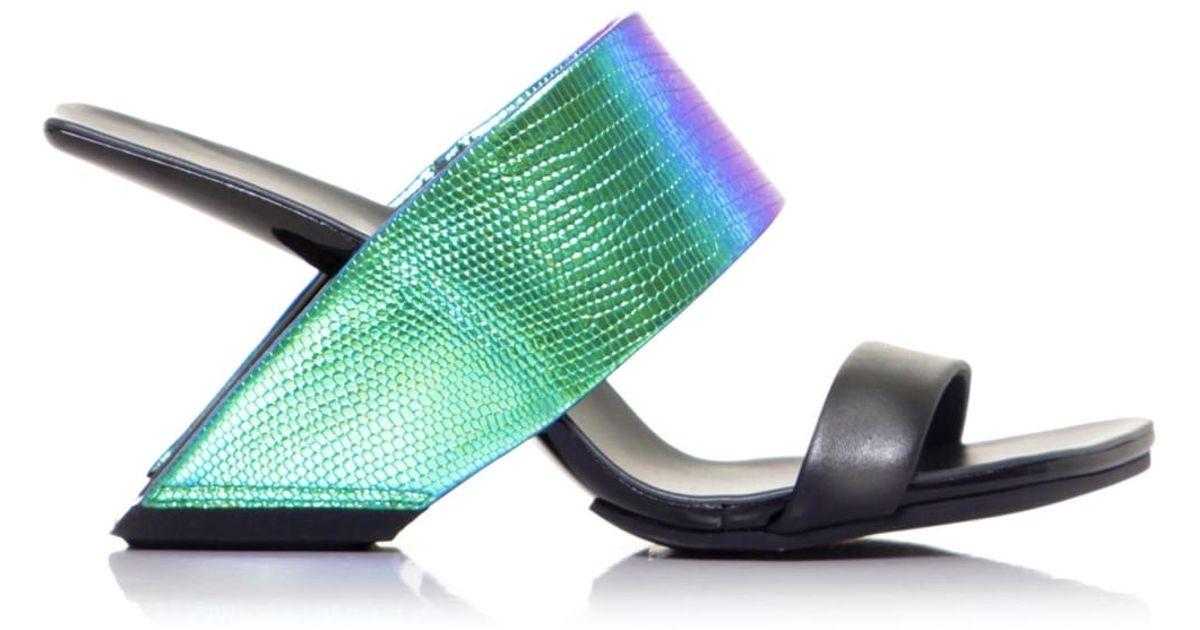 Lyst - United Nude Loop Hi Sandals in Black