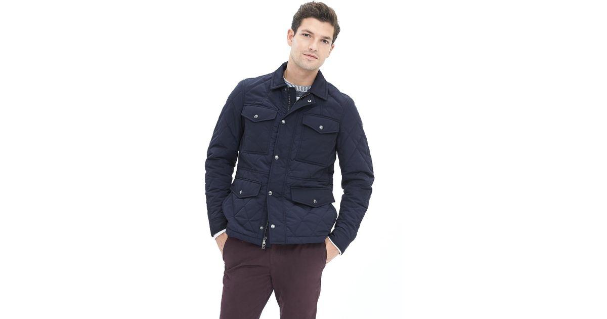 6d0c9d783 Banana Republic Blue Quilted Four-pocket Jacket for men