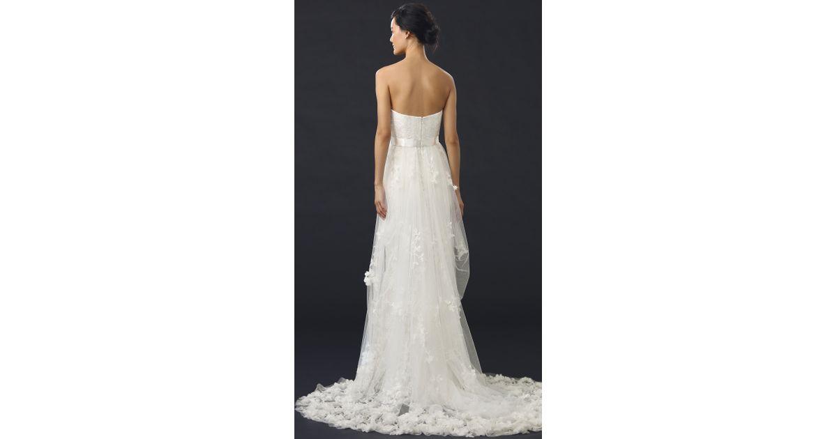 Marchesa Azalea Gown In White