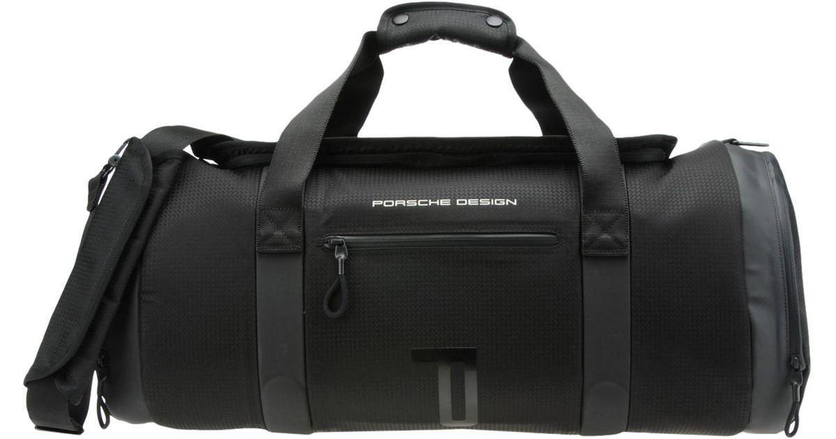 Porsche Design Top Handle Duffle Bag In Black For Men Lyst