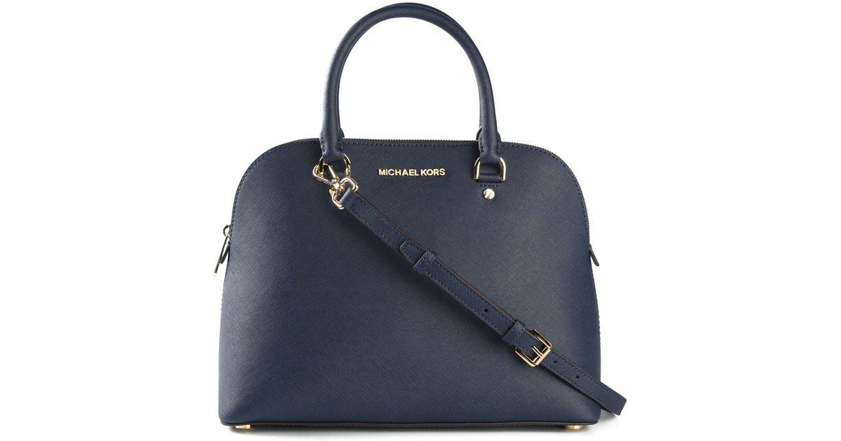 Michael Kors Cindy Laukku : Michael kors cindy large satchel in blue lyst