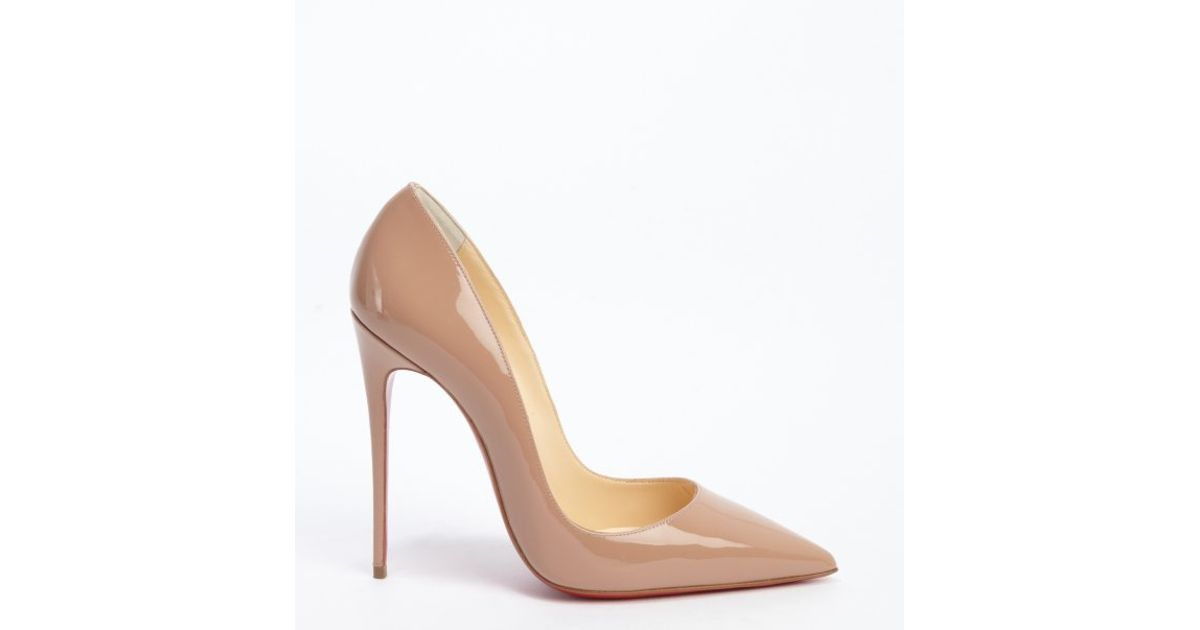cheap christian louboutin loafers - Christian louboutin Nude Patent Leather So Kate 120 Stiletto Pumps ...
