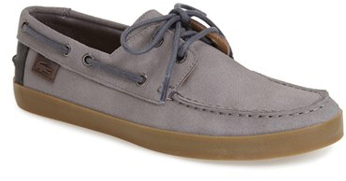 1ea360a9 Lacoste Gray 'keelson 7' Boat Shoe for men