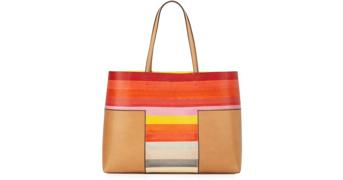 17e76b446793 Lyst - Tory Burch Block-t Degrade Leather Tote Bag