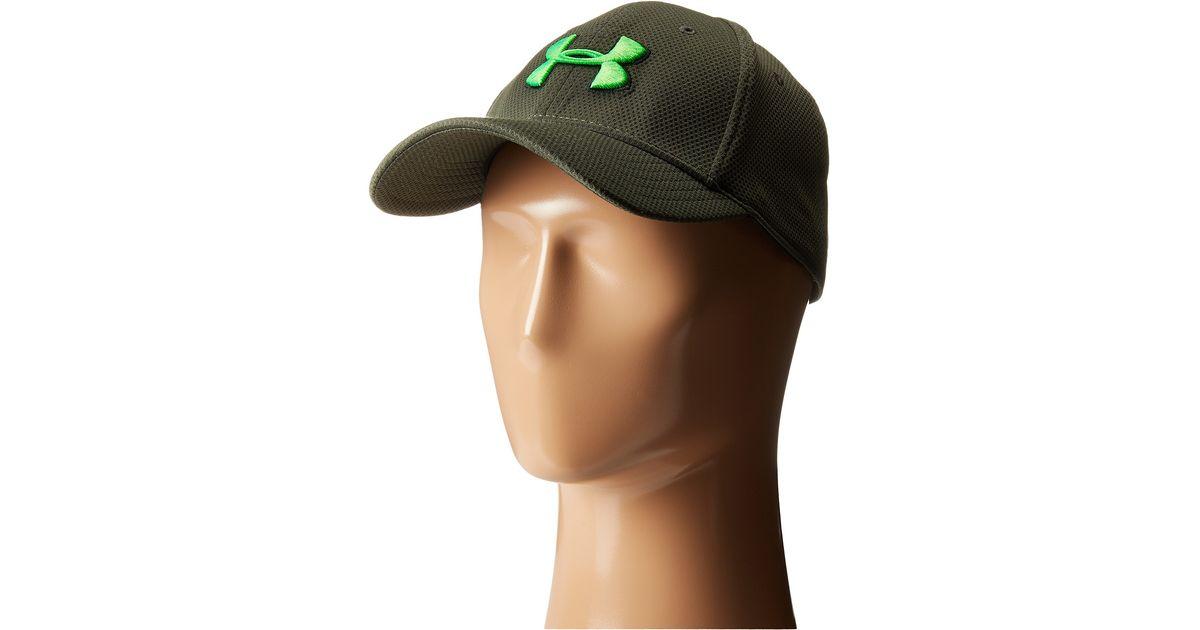 Lyst - Under Armour Ua Blitzing Ii Stretch Fit Cap in Green for Men 3e10b5197e9