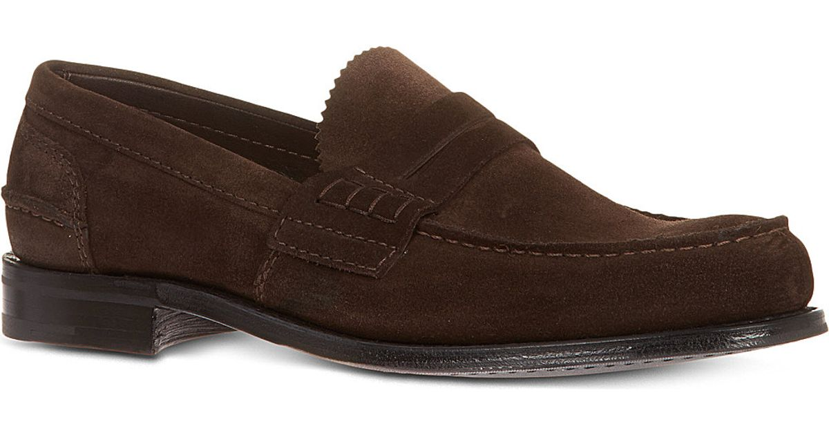 08679257aa3 Lyst - Church s Pembrey Suede Penny Loafers in Brown for Men