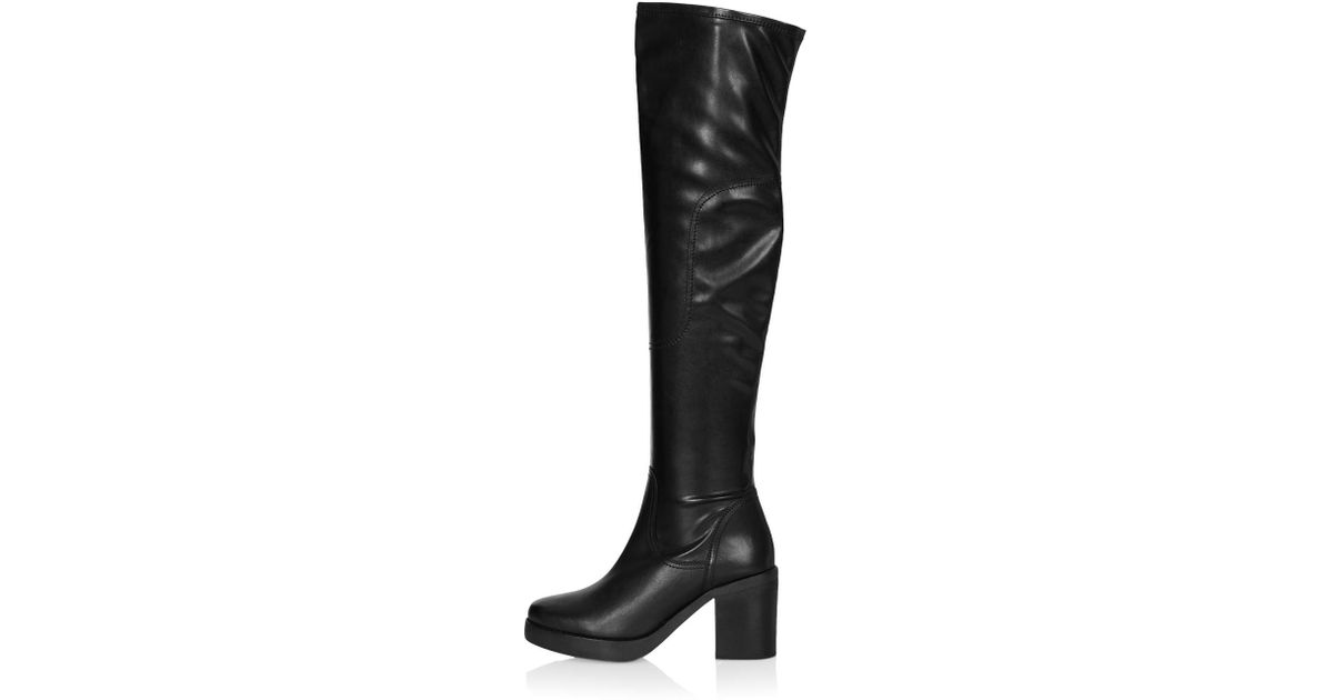b39c3f5003e TOPSHOP Black Clancy Over The Knee Boots