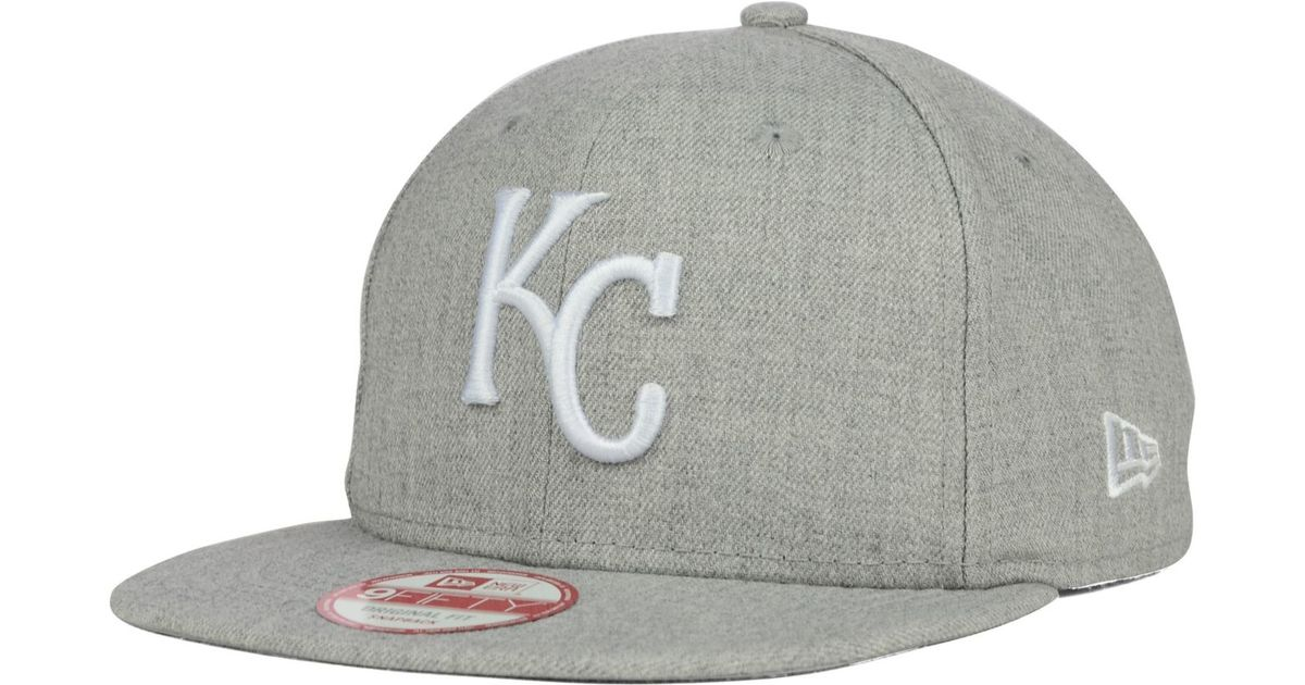 quality design 28c15 4b39c KTZ Kansas City Royals Heather C-dub 9fifty Snapback Cap in Gray for Men -  Lyst