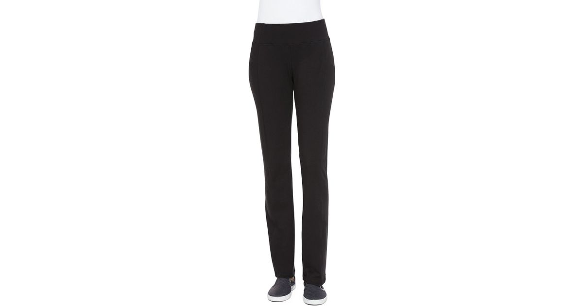 c18bc2c911 Eileen Fisher Organic Cotton Yoga Pants in Black - Lyst