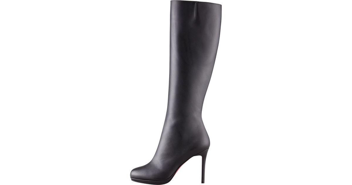 los angeles bcf4f 03f19 Christian Louboutin - Black Botalili Leather Red-sole Knee Boot - Lyst