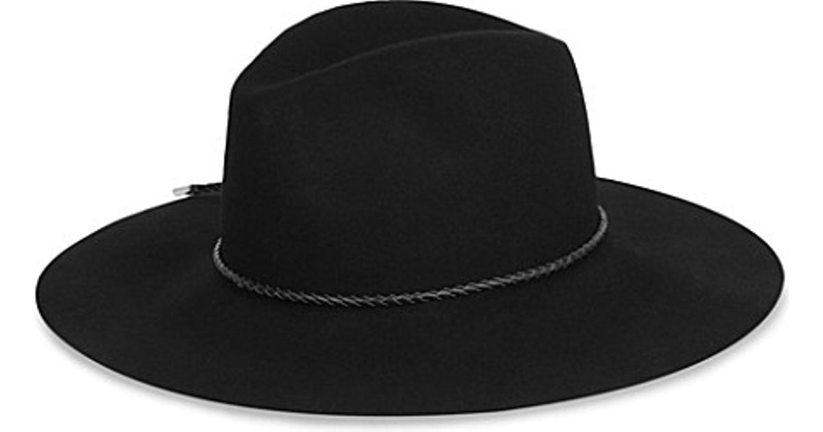 e93b3b6b88c Emilio Pucci Merino Wool Fedora Hat - For Women in Black - Lyst