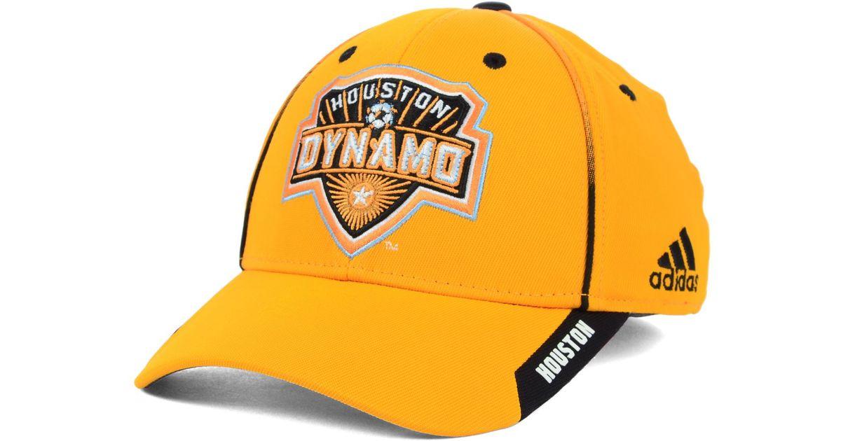 280261d989fee ... switzerland lyst adidas houston dynamo mls mid fielder cap in orange  for men c7846 679c3
