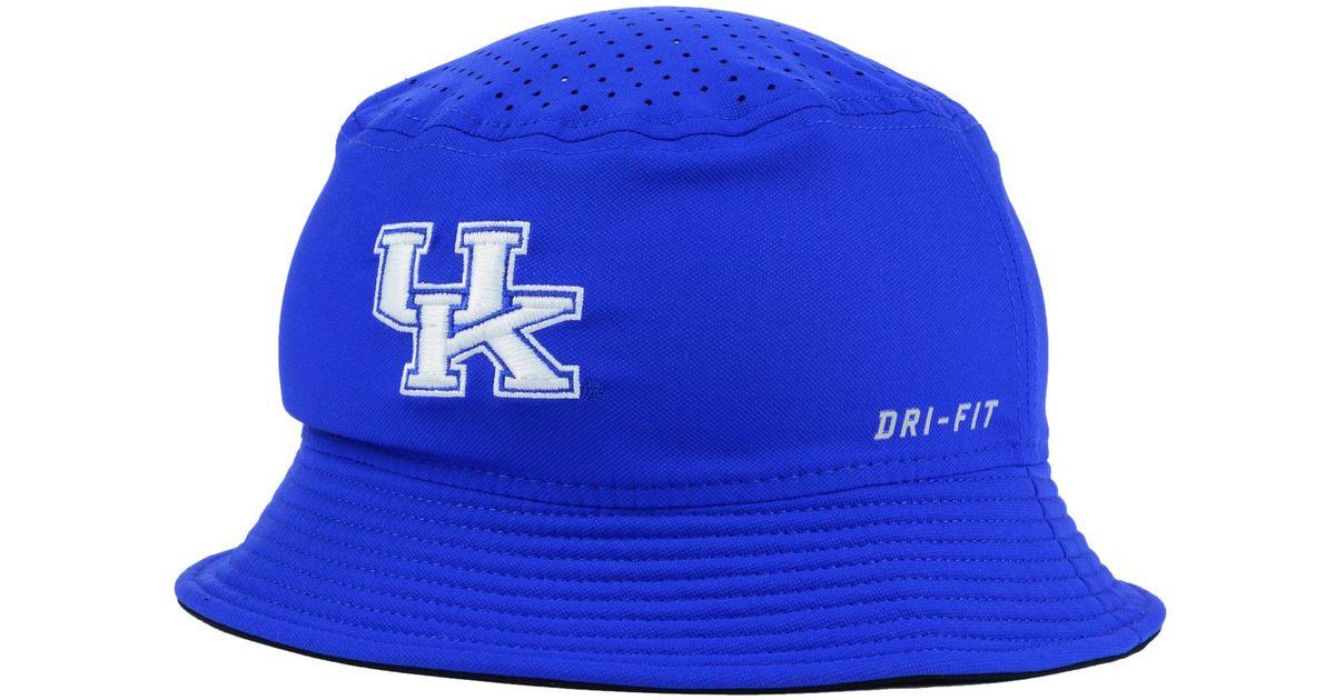 Lyst - Nike Kentucky Wildcats Vapor Bucket Hat in Blue for Men 21ce5532295