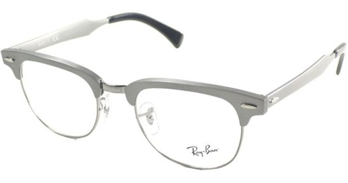 51e523dd15688 ... where can i buy lyst ray ban ray ban rx6295 aluminum clubmaster 2808  brushed gunmetal metal ...
