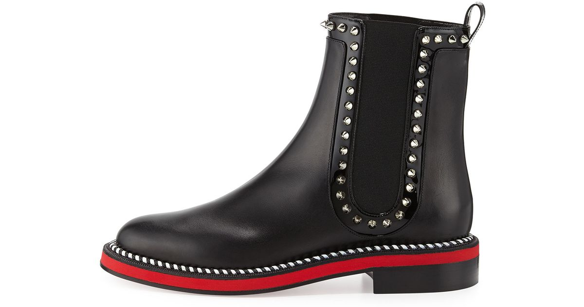 pretty nice f0be8 75af7 Christian Louboutin Black Nothing Hill Red Sole Boot