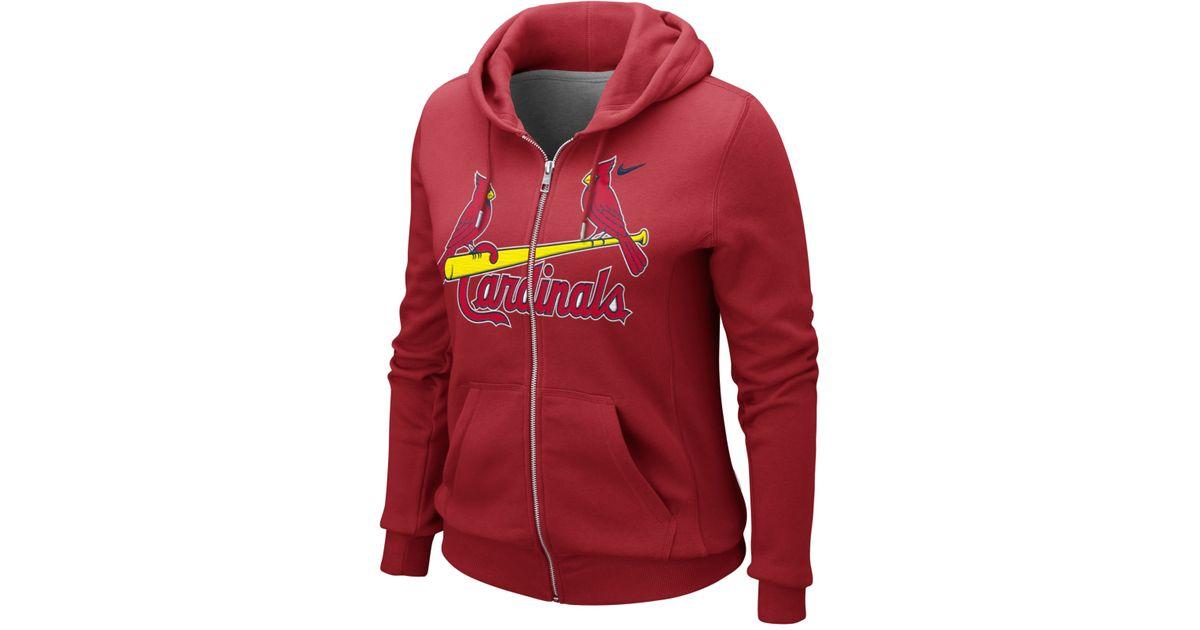 sale retailer 01957 f2336 Nike Red Women'S St. Louis Cardinals Hoodie Sweatshirt