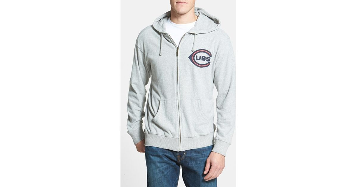 online store c14fd 76e01 Red Jacket Gray 'chicago Cubs' Zip Hoodie for men