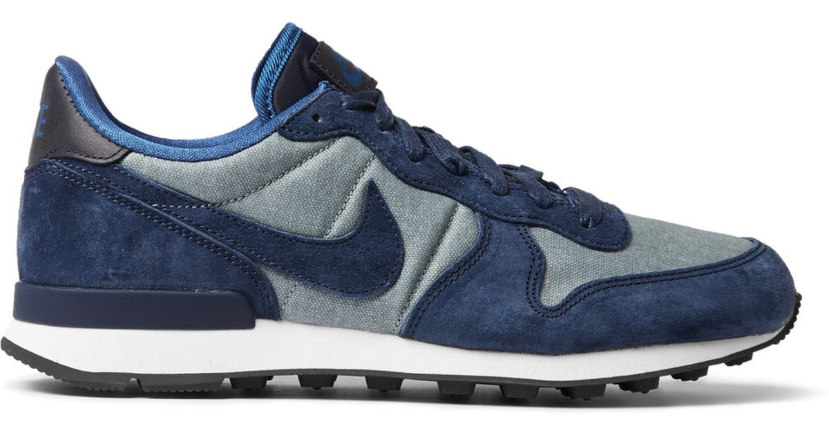 Nike Internationalist Premium Suede-trimmed Sneakers in Blue for Men - Lyst 43d2f90c3242