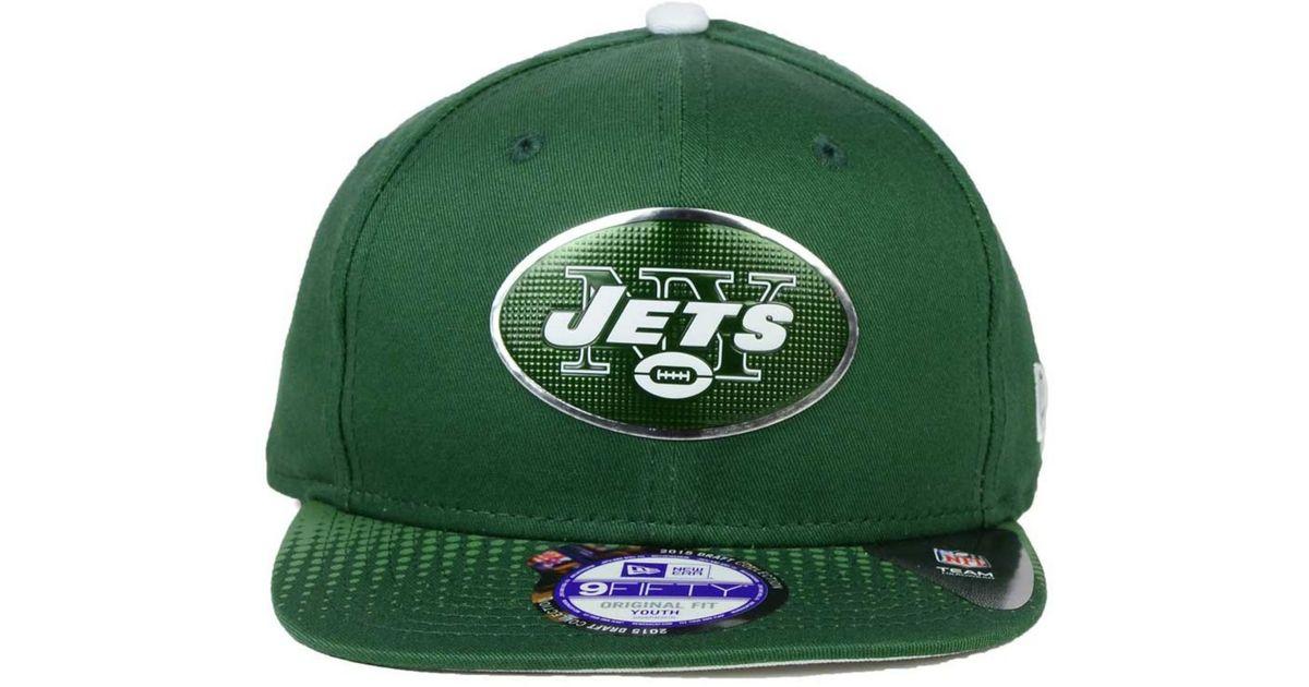 quality design f1ec2 821ef Lyst - KTZ Kids  New York Jets 2015 Nfl Draft 9fifty Snapback Cap in Green  for Men