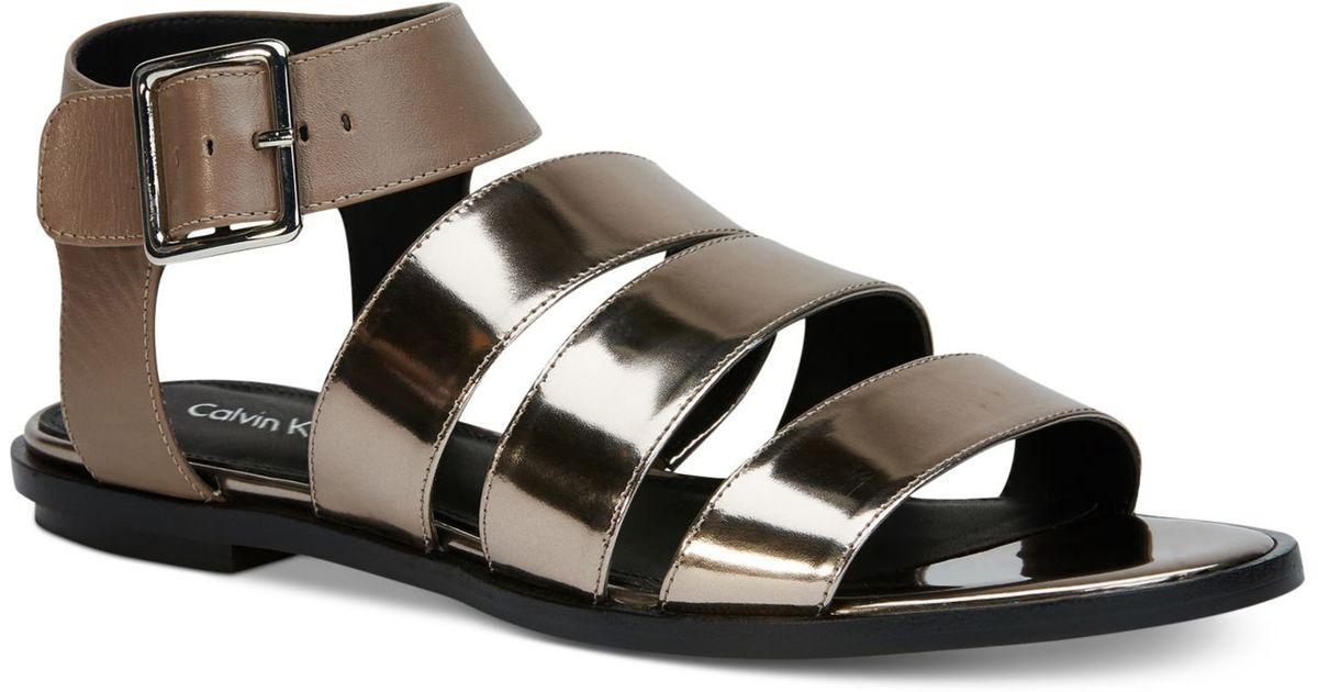 Womens Sandals Calvin Klein Ulie Ematite