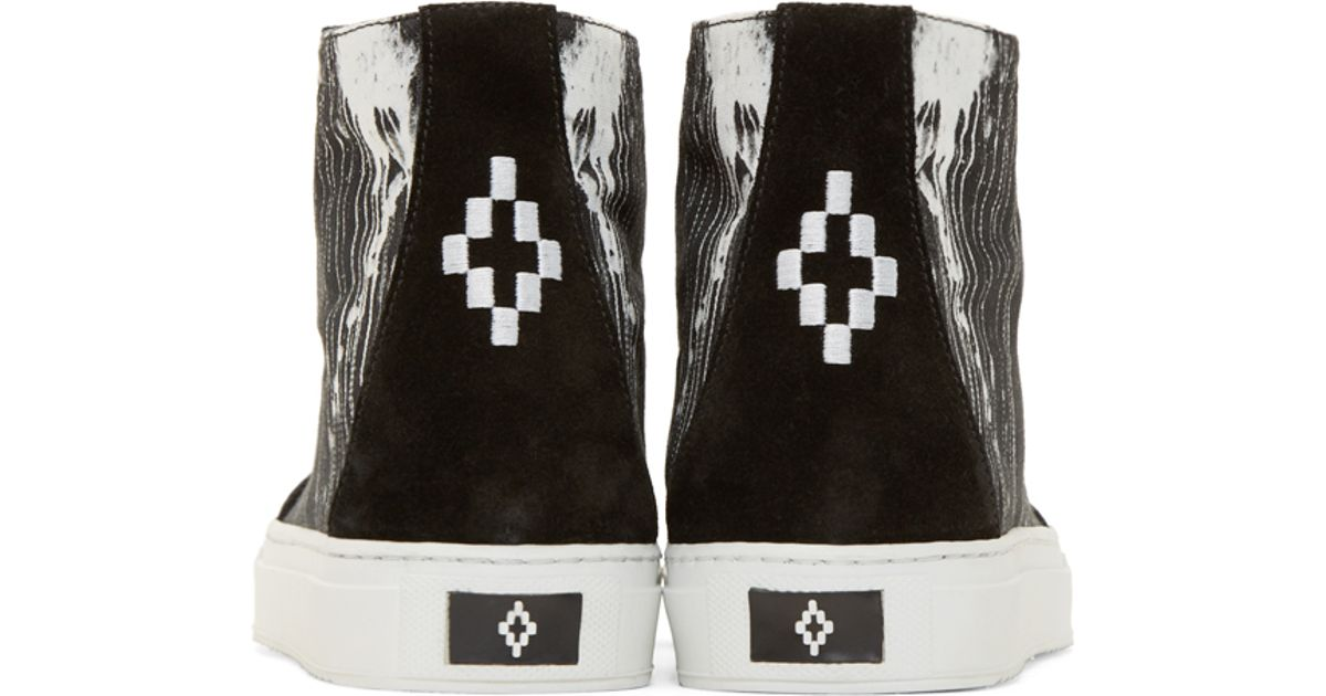 0959d21583f2 Lyst - Marcelo Burlon Black And White High top San Lorenzo Sneakers in  Black for Men