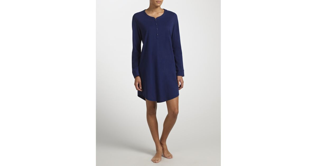 e1e758acd5 John Lewis Long Sleeve Nightdress in Blue - Lyst