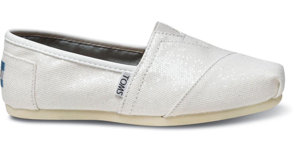 TOMS Bridal White Glitter Women's