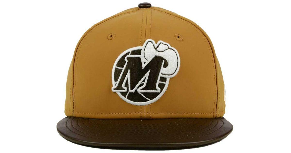 huge discount 4935a 069bf ... sale lyst ktz dallas mavericks suedebuck 9fifty snapback cap in brown  for men 305d8 fd208