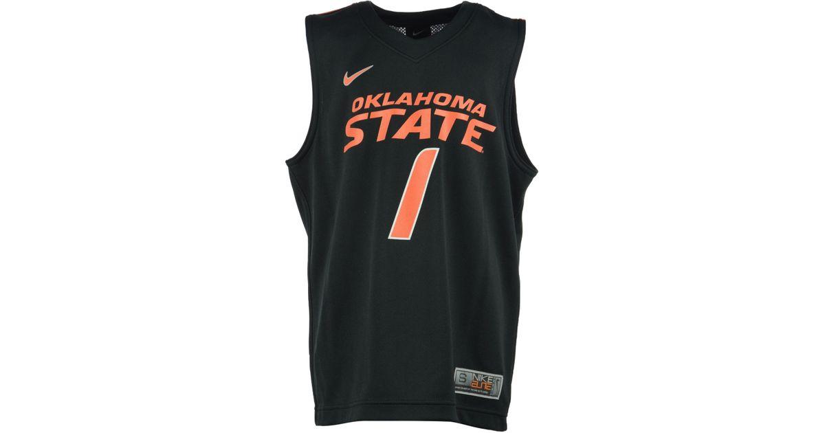 quality design 22c03 c9667 Nike Black Boys' Oklahoma State Cowboys Replica Basketball Jersey