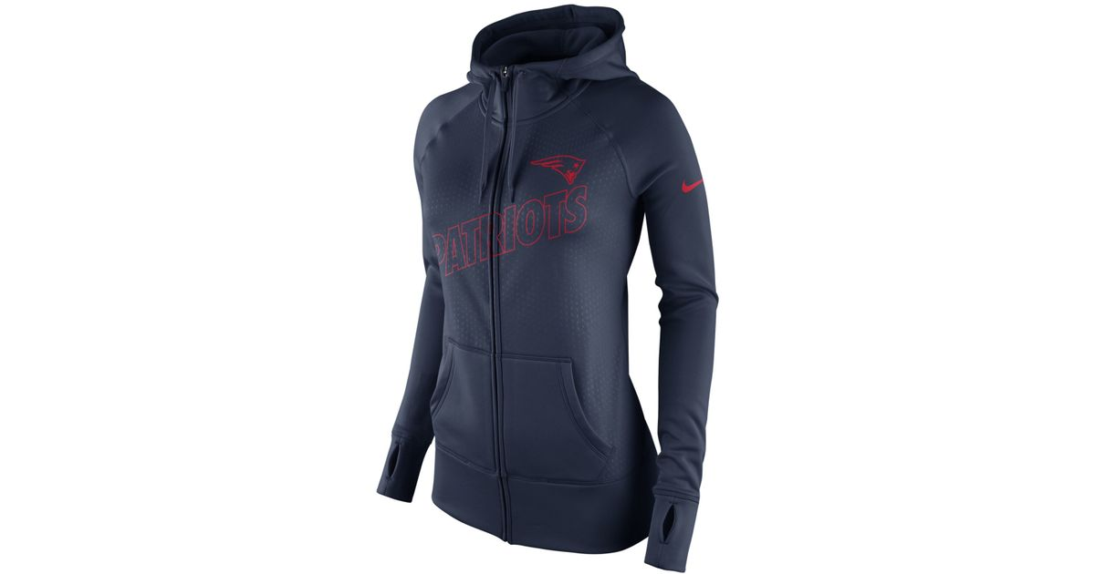 competitive price 7cb6e 4d04b Nike Blue Women's New England Patriots Stadium Ko Hoodie