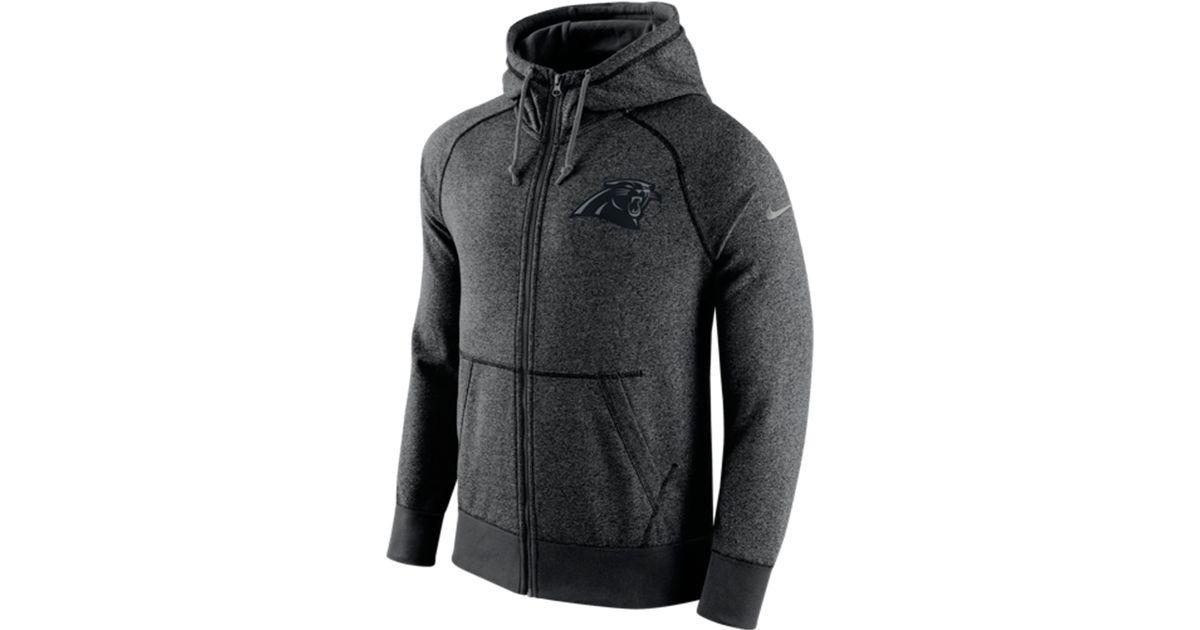 official photos effbd 61e84 Nike Gray Men's Carolina Panthers Gridiron Full-zip Hoodie for men