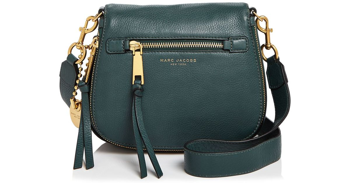 67807877650e Lyst - Marc Jacobs Recruit Small Saddle Bag in Green