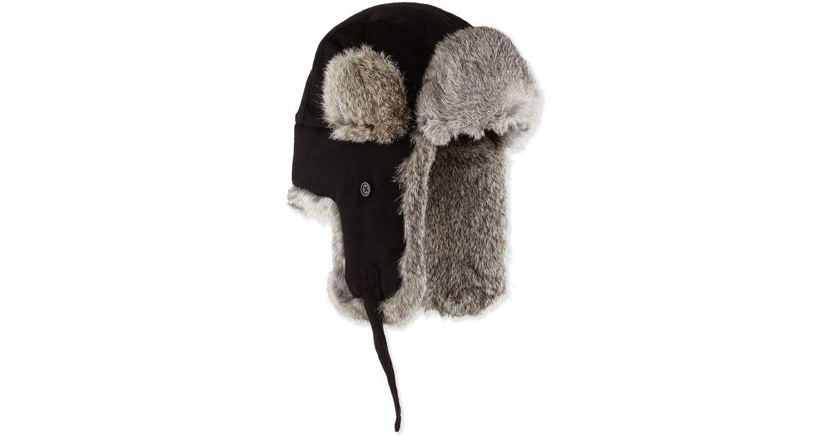 Lyst - Neiman Marcus Fur-trim Trapper Hat in Gray for Men 6627c6d62e64